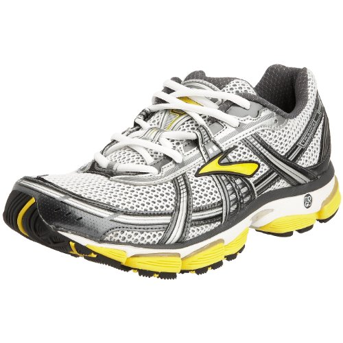 Brooks Men's Trance 9 Running Shoe Grey/Silver/Yellow 8 UK