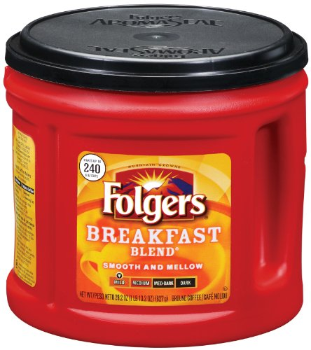 Folgers Breakfast Blend Coffee, 29.2 Ounce (Pack of 6)