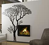 Stickerbrand Vinyl Wall Decal Sticker Bare Autumn Tree #240A 6ft Tall