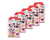 Fujifilm Instax Mini Films for Fuji Instant Film Camera - Mickey, 10 Sheetsx5Pack(total 50 Sheets)