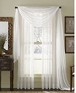 amazon com sheer scarf window treatments curtains