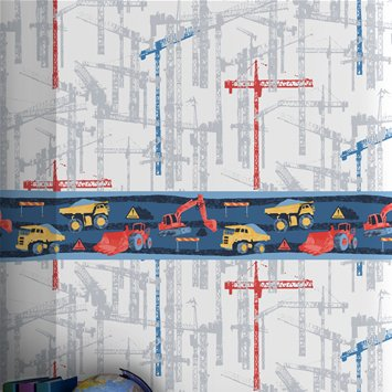 Coloroll Kids Building Site Border Wallpaper - M0605 from Crown