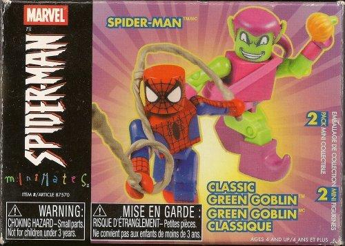 Marvel Spider-Man Minimates: Spider-Man and Classic Green Goblin (Marvel Minimates Green Goblin compare prices)