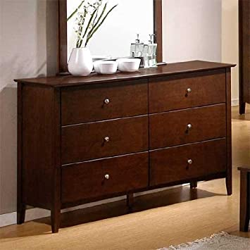Dresser with Chrome Ball Handles in Walnut Finish