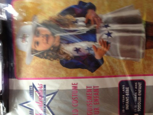 Girls Dallas Cowboys Cheerleadrer Child Costume Size 1-2