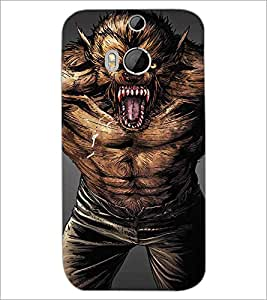 HTC ONE M8 S BEAST Designer Back Cover Case By PRINTSWAG
