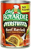 Chef Boyardee Big Beef Ravioli, Overstuffed, 15-Ounce Cans (Pack of 12)