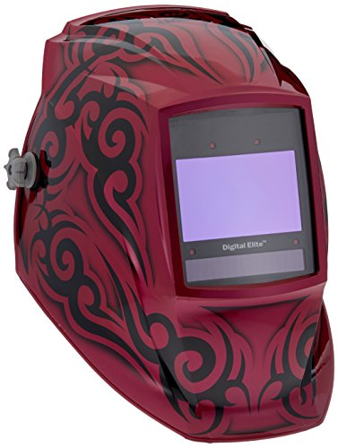 Auto-Darkening-Welding-Helmet-Pink-and-Black-Digital-Elite-8-to-13-Lens-Shade