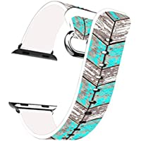 Iwatch Bands 38mm Apple Watch Band Genuine Prime Elegant Leather Replacement For All IWatch With Silver Metal... - B01IM1NXJI