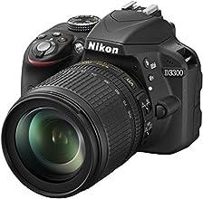 """Nikon D3300 + 18-105 mm VR - Cámara réflex digital de 24.2 Mp (pantalla 3"""", 18-105 mm, 5.8 x, CMOS), negro"""