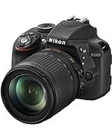 Nikon D3300 Appareil photo numérique Reflex 24,2 Mpix Kit Objectif AF-S DX G ED VR 18-105 mm Noir