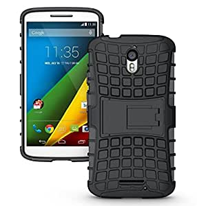 Real Shopping Shock Proof Protective Rugged Armor Super Hybrid Heavy Duty Back Case Cover For Motorola Moto X Play - Rugged Black