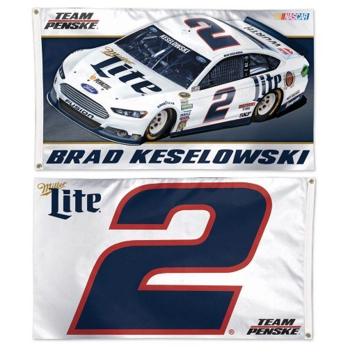 Brad Keselowski #2 2015 3' x 5' Double-Sided Horizontal Flag, #81349015 brad booker