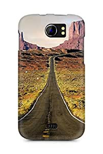 Amez designer printed 3d premium high quality back case cover for Micromax Canvas 2 A110 (Nature Endless Road Rock Mountains Landscape)