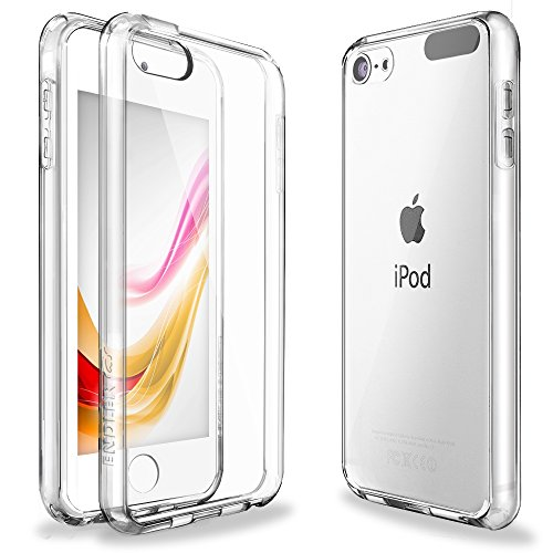 iPod Touch 6 Case,iPod Touch 5 Case,ENDLER [Fusion][CLEAR SLIM] Hybrid Premium TPU Bumper Scratch Resistant Hard Clear Back Panel Shock Absorption Case for Apple iPod Touch 5th 6th Gen (Crystal Clear) (Protecting Ipod 5 Cases compare prices)