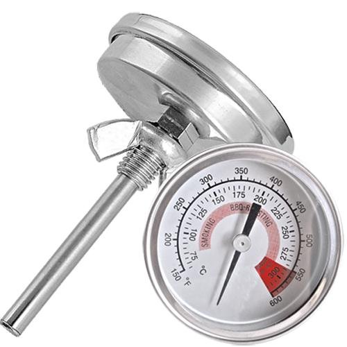 Ecloud Shopus 3 Pieces Barbecue Pit Smoker Grill Thermometer Temperature Gauge