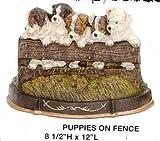 Door Stop - Puppies on Fence