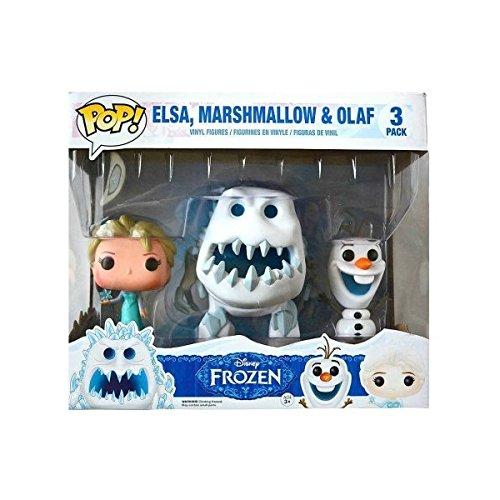 Funko - Pack de 3 Figurines Pop La Reine des Neiges - Elsa snow, Marshmallow et Olaf - 0849803050443