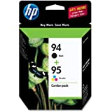 HP 94 Black & 95 Tri-color Original Ink Cartridges, 2 pack (C9354FN)