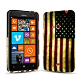 Juju Village Retro USA Flag Soft Silicone TPU Gel Case Back Cover For Nokia Lumia 625