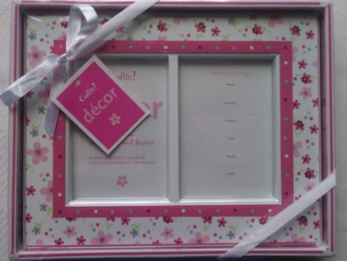 Pink Daisy first photo and announcement picture frame - 1