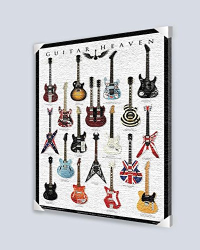 Guitar Heaven Multiple Guitar Image Canvas Art, 24 By 36-Inch