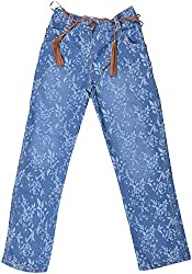 Little Kangaroos Baby Girls' Relaxed Jeans (HF13, Blue)