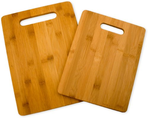 Totally Bamboo 20-2038 Bamboo Cutting Board Set, 2-Board Set