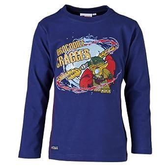 LEGO Wear Sweatshirt  Col ras du cou Manches longues Garon - Bleu - Blau (581 DARK BLUE) - FR : 10 ans (Taille fabricant : 140)