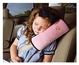 [CAR UNIVERSAL.JP] シートベルトショルダーパッド スーパーソフト枕 【グレードPP綿】 チャイルドシートベルトカバー 車内泊 車中泊 旅行 ピンク