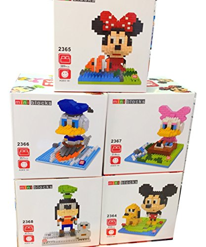 [Mickey Mouse Clubhouse Toys Party Supplies Nanoblock Building Sets Nano Bricks Lot 5 Diy Figurines Nano Micro Educational Toys] (Daisy Duck Costumes For Toddlers)