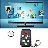 HDE Universal 7 Button Stealth Television IR Remote Control TV Prank Clicker Keychain