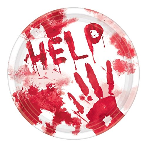 amscan-aider-a-sang-splattered-papier-assiettes-repas-lot-de-18