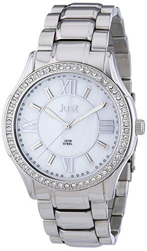 Just Watches 48-S9243-WH - Orologio da polso donna, acciaio inox, colore: argento