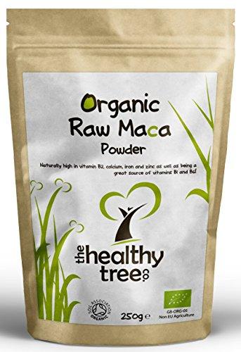 Maca-Pulver-Bio-Premium-Qualitt-Superfood-geeignet-fr-Vegetarier-und-Veganer-Reich-an-Vitamin-B1-B2-B6-Kalzium-Eisen-und-Zink-Soil-Association-zertifizierter-biologischer-Anbau-250g-Pckchen-Maca-Pulve