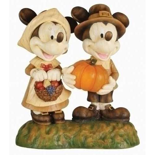 Pack of 2 Disney Mickey & Minnie Mouse Lighted LED Pilgrim Figures 5