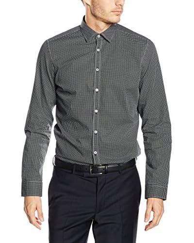 Seidensticker Businesshemd Super Slim schwarz/weiß