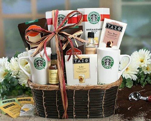 Send Fresh Cut Flowers - Starbucks Sonata Mixed Gift Basket