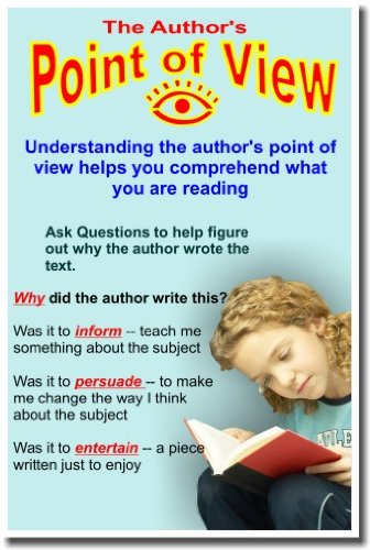 The Author's Point of View - Classroom Language Arts Poster