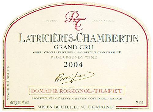 2004 Rossignol-Trapet Latricieres-Chambertin Grand Cru Burgundy 750 Ml