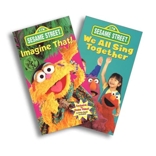Amazon.com: Sesame Street - Imagine That!/We All Sing Together [VHS