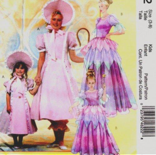 McCall's Costumes Bo Peep, Princess, Fairy Sewing Pattern M4622