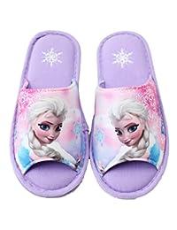 Disney Frozen Elsa Girl's Purple Indoor Slippers