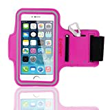 EnGive Anti-slip Sports Armband for iPhone 6 4.7 inch Size (Hot Pink)
