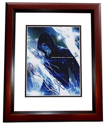 Jamie Foxx Autographed - Hand Signed The Amazing Spiderman 2 11x14 Photo MAHOGANY CUSTOM FRAME