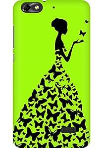 AMEZ designer printed 3d premium high quality back case cover for Huawei Honor 4C (light green princess)