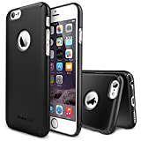 "iPhone 6 Case - Ringke SLIM iPhone 6 Case 4.7 "" [All Around Protection][Logo-Cut Out SF BLACK] Full Top and Bottom Coverage Premium Dual Coated Hard Case for Apple iPhone 6 4.7 Inch - Eco Package"