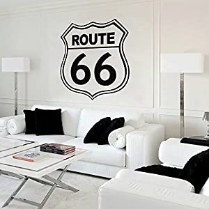 Route 66 Highway Sign Road Street Wall Vinyl