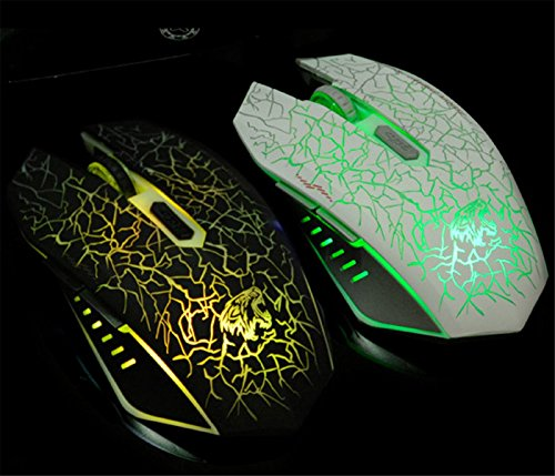 shirui l6 wireless optical gaming mouse rechargeable silent mice
