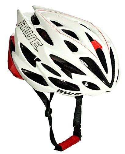 AWE-AWESpeedTM-In-Mould-Casco-de-ciclismo-en-ruta-para-hombres-adultos-58-61cm-Blanco-rojo
